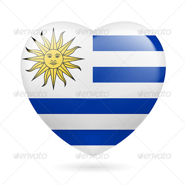 GraphicRiver Heart icon of Uruguay 7304734