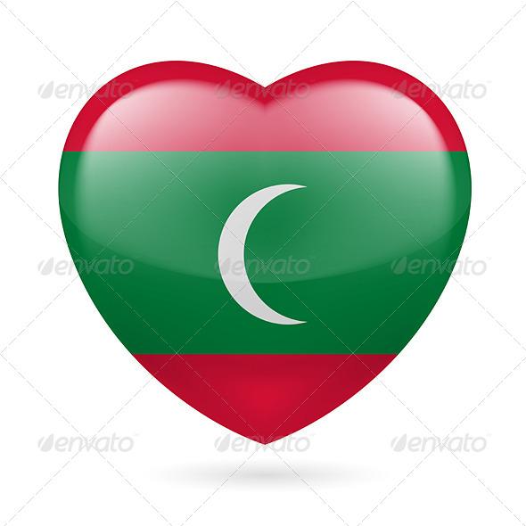 GraphicRiver Heart icon of Maldives 7304737