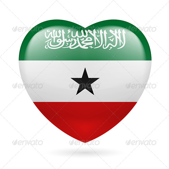 GraphicRiver Heart icon of Somaliland 7305168