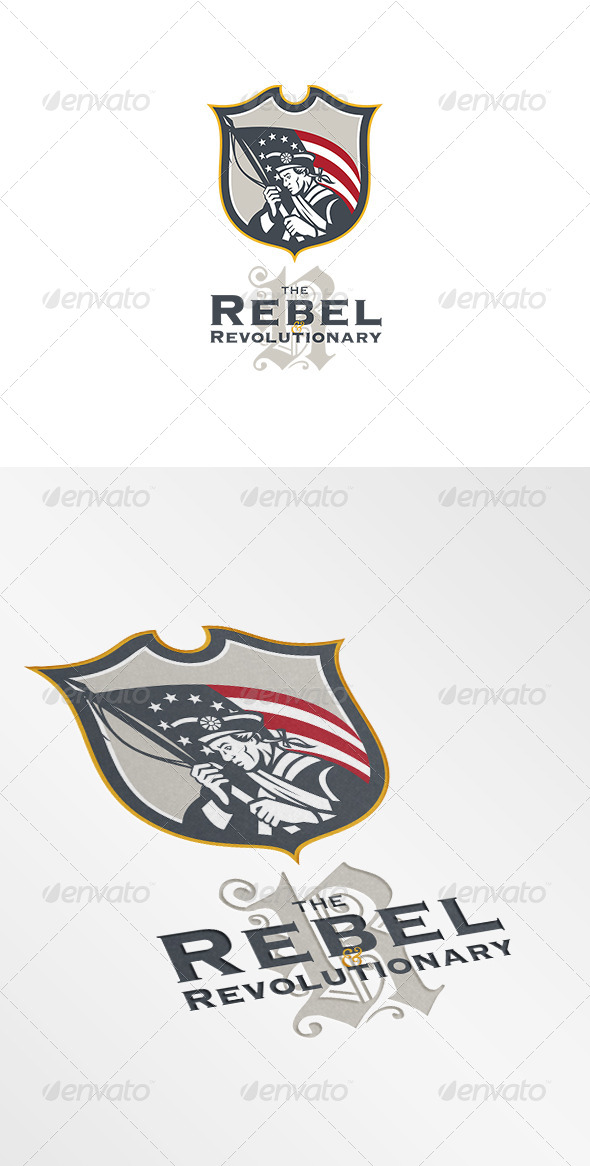 GraphicRiver Rebel Revolutionary Logo 7305643