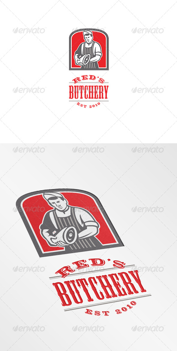 GraphicRiver Red s Butchery Logo 7305645