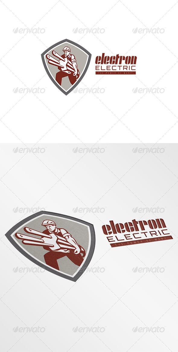 GraphicRiver Electron Electric Power Logo 7305705