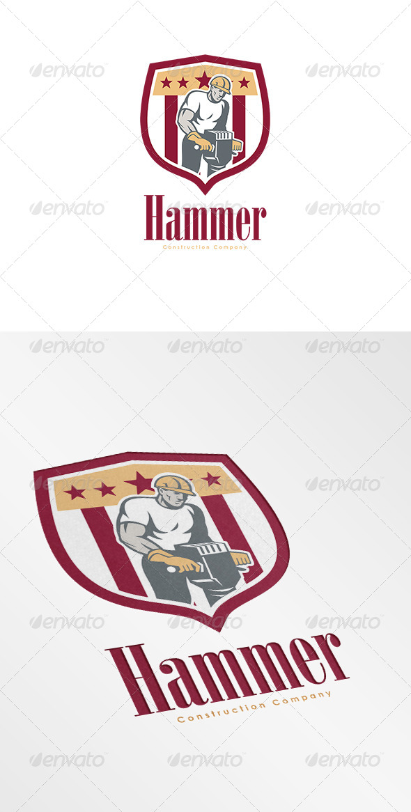 GraphicRiver Hammer Construction Company Logo 7305716