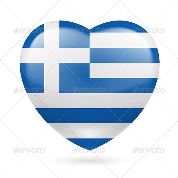 GraphicRiver Heart Icon of Greece 7305719