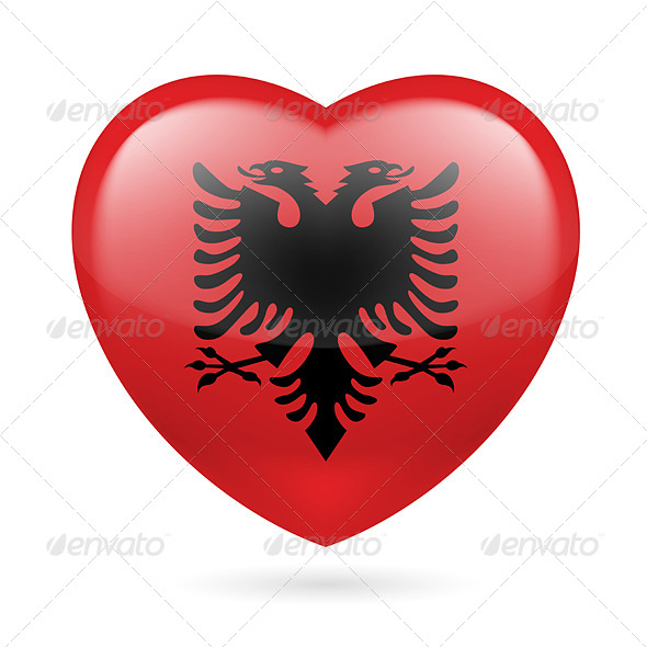 GraphicRiver Heart Icon of Albania 7305721