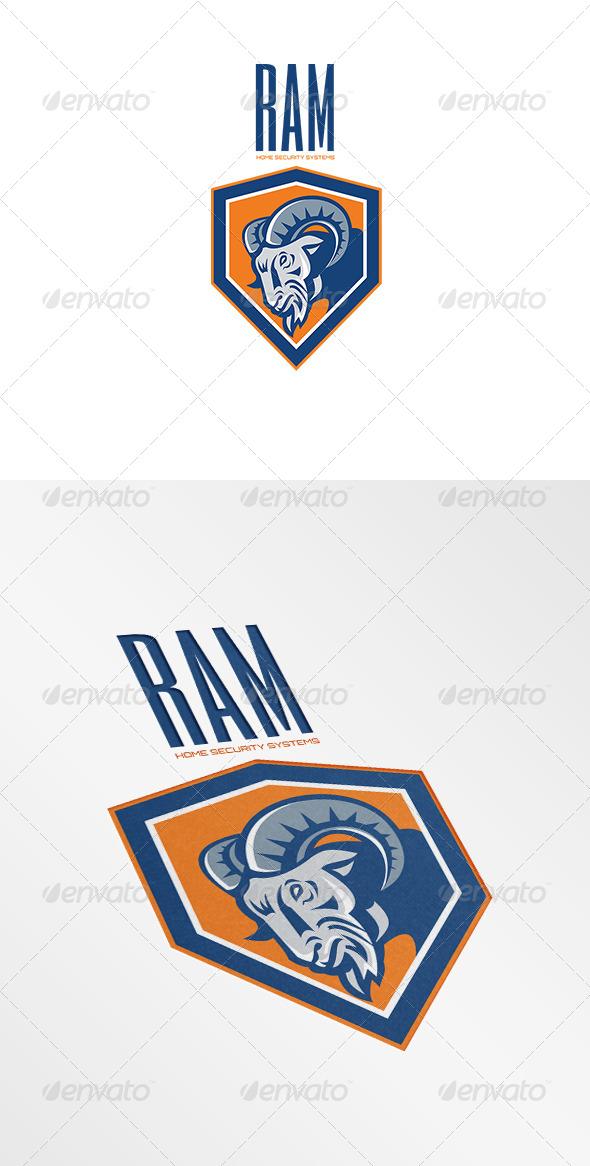 GraphicRiver Ram Home Security Systems Logo 7305732