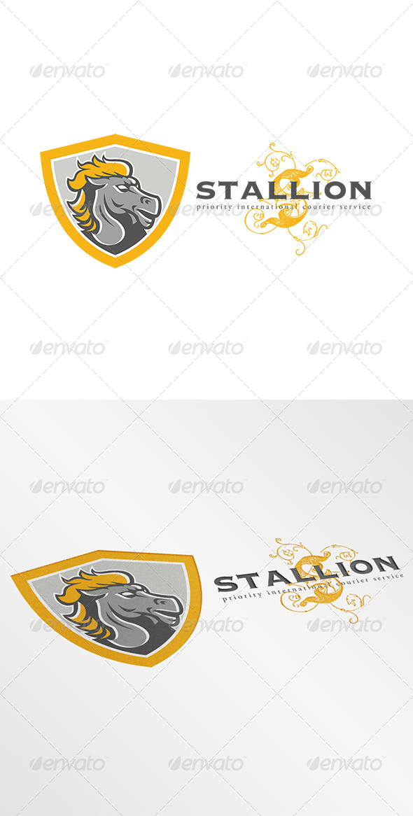 GraphicRiver Stallion Courier Services Logo 7305733
