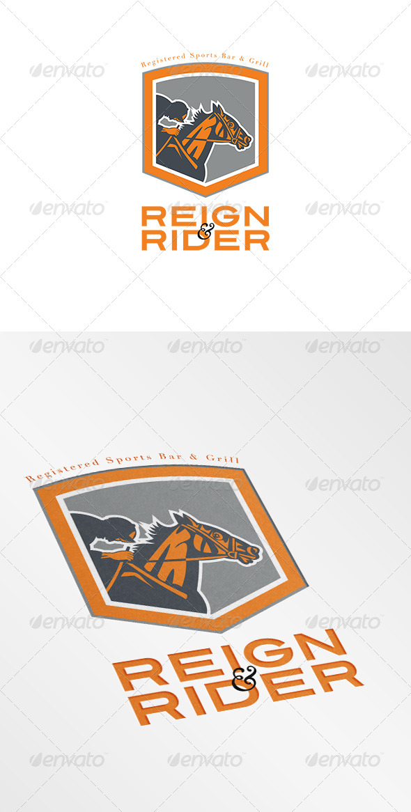 GraphicRiver Reign Rider Sports Bar Logo 7305735