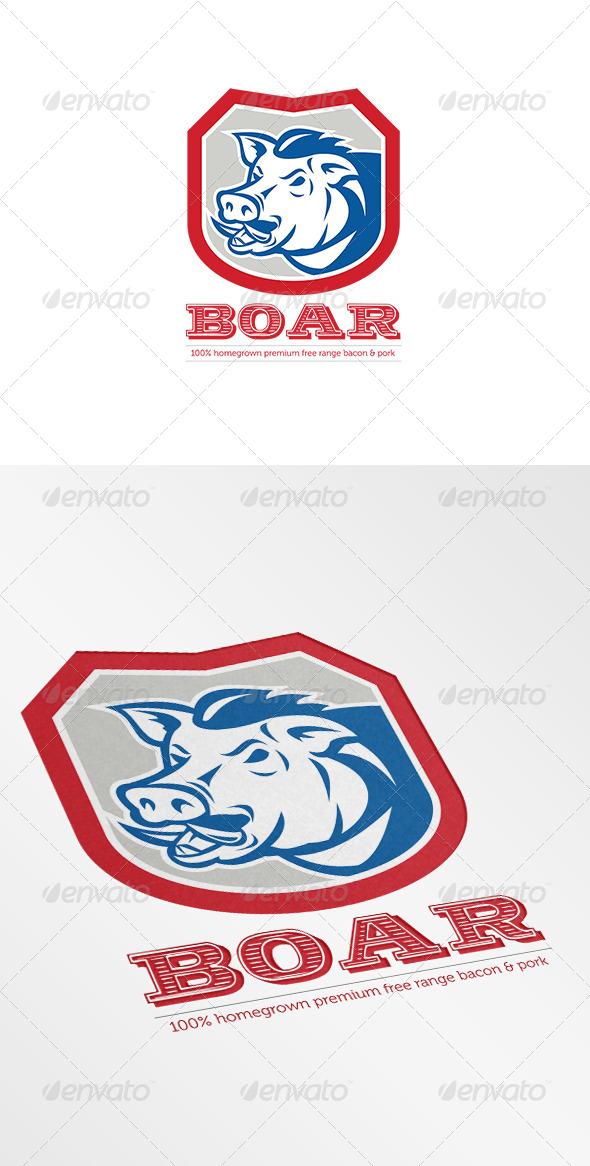 GraphicRiver Wild Boar Free Range Logo 7305747