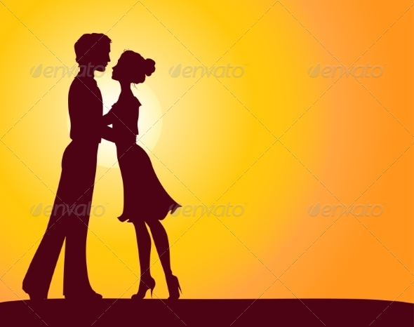 GraphicRiver Silhouettes of Man and Woman 7305757