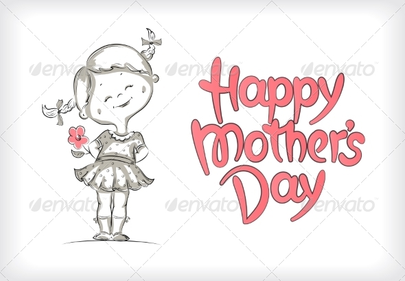 GraphicRiver Happy Mother s Day Hand-Drawn Lettering 7305802