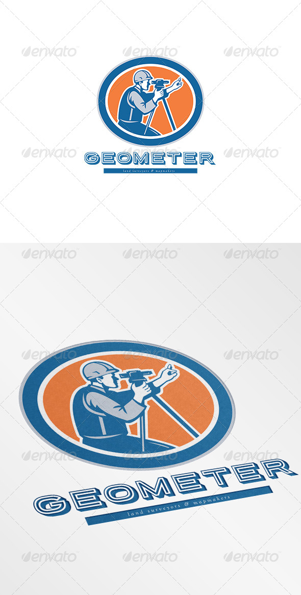 GraphicRiver Geometer Land Surveyor and Mapmaker Logo 7305819