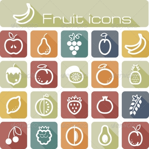 GraphicRiver Icons Set Fruits 7305843