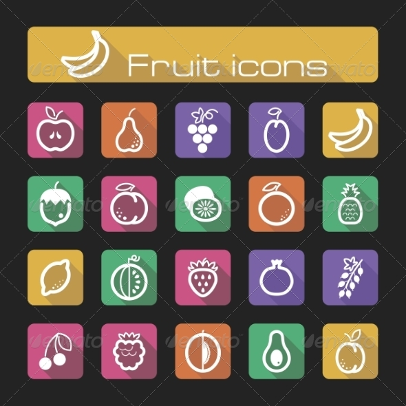 GraphicRiver Icons Set Fruits 7305883