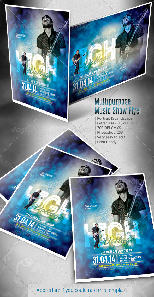 GraphicRiver Multipurpose Music Show Flyer 7297422