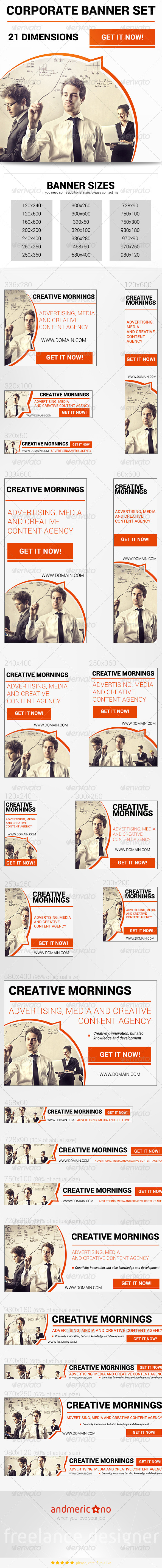 GraphicRiver Corporate Banner Set 7307145