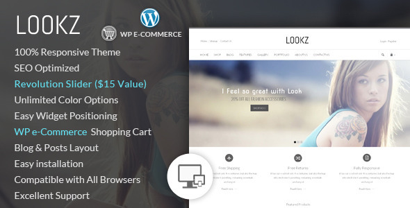 ThemeForest Lookz Wordpress E-Commerce Theme 7307521