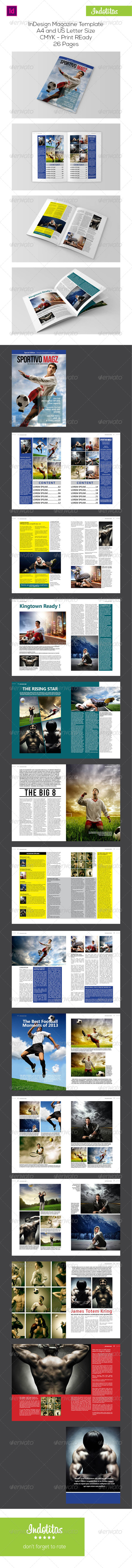 GraphicRiver Sport InDesign Magazine Template 7308302