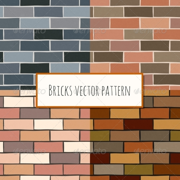 GraphicRiver Seamless Brick Wall Rectangular Pattern 7308361