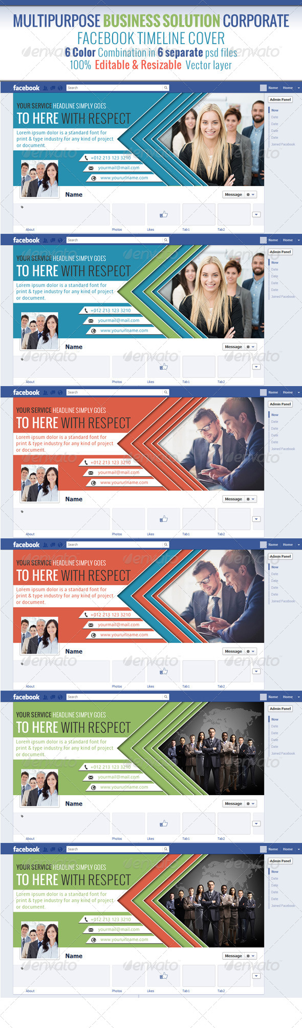 GraphicRiver Multipurpose Business Solution Facebook Timeline 7291335