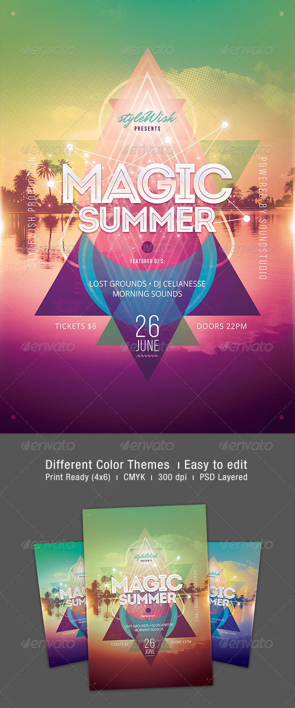 GraphicRiver Magic Summer Flyer 7308378
