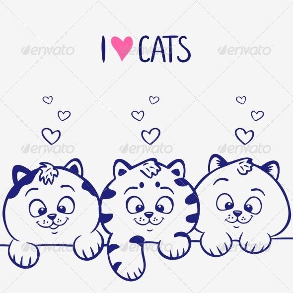GraphicRiver Three Kittens 7308390