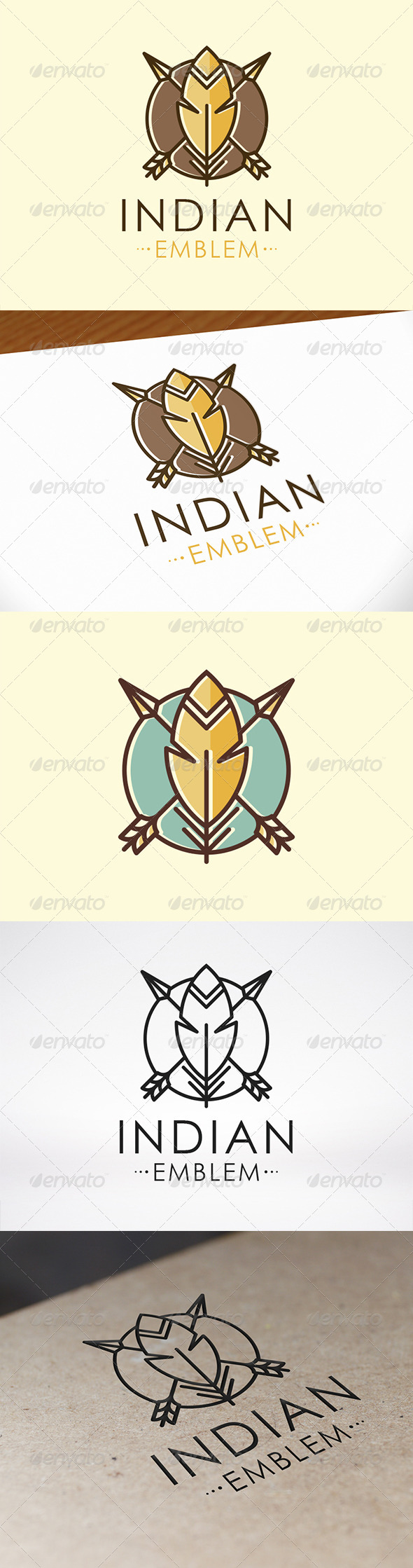 GraphicRiver Indian Emblem Logo Template 7308413