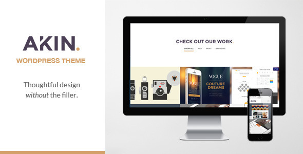 ThemeForest Akin One Page Responsive WordPress Theme 7308562