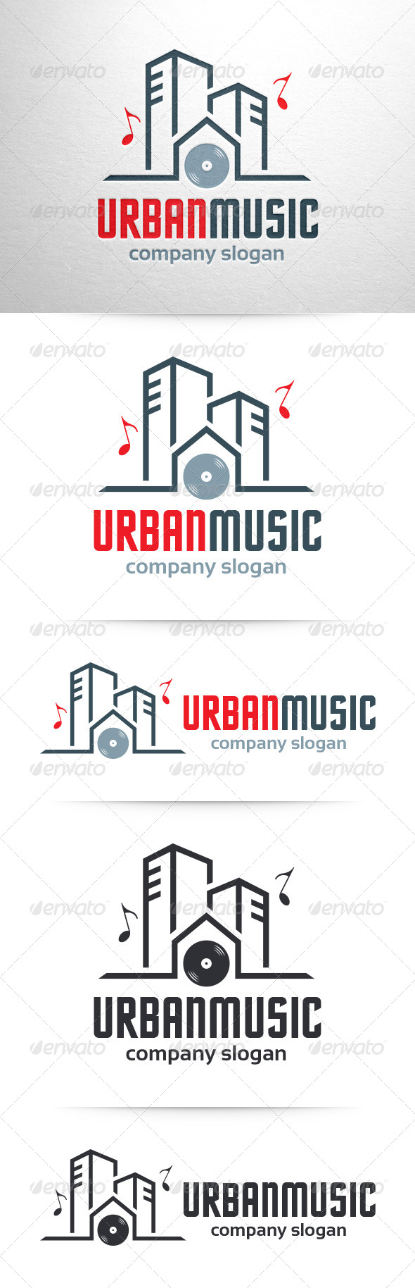 GraphicRiver Urban Music Logo Template 7308698