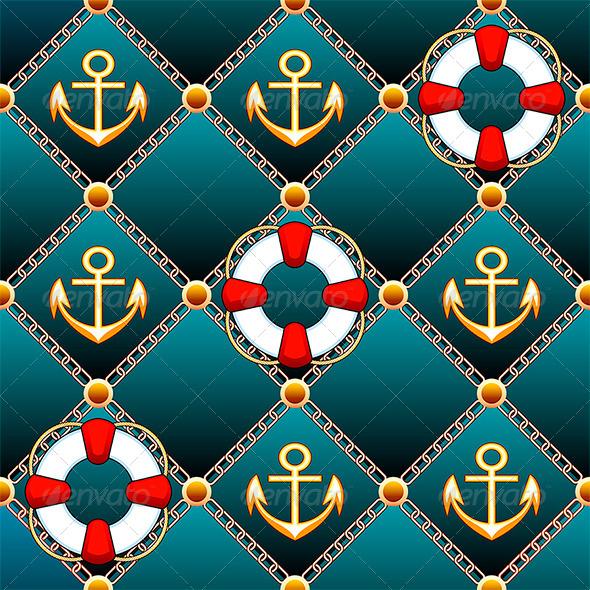 GraphicRiver Seamless Lifebuoy Pattern 7309174