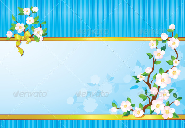 GraphicRiver Spring Flower Background 7309373