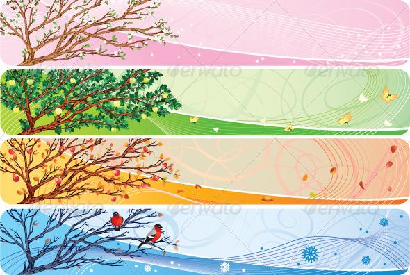 GraphicRiver Seasonal Banners Set 7309380