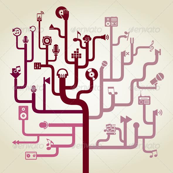 GraphicRiver Labyrinth Made of Music Symbols 7309433