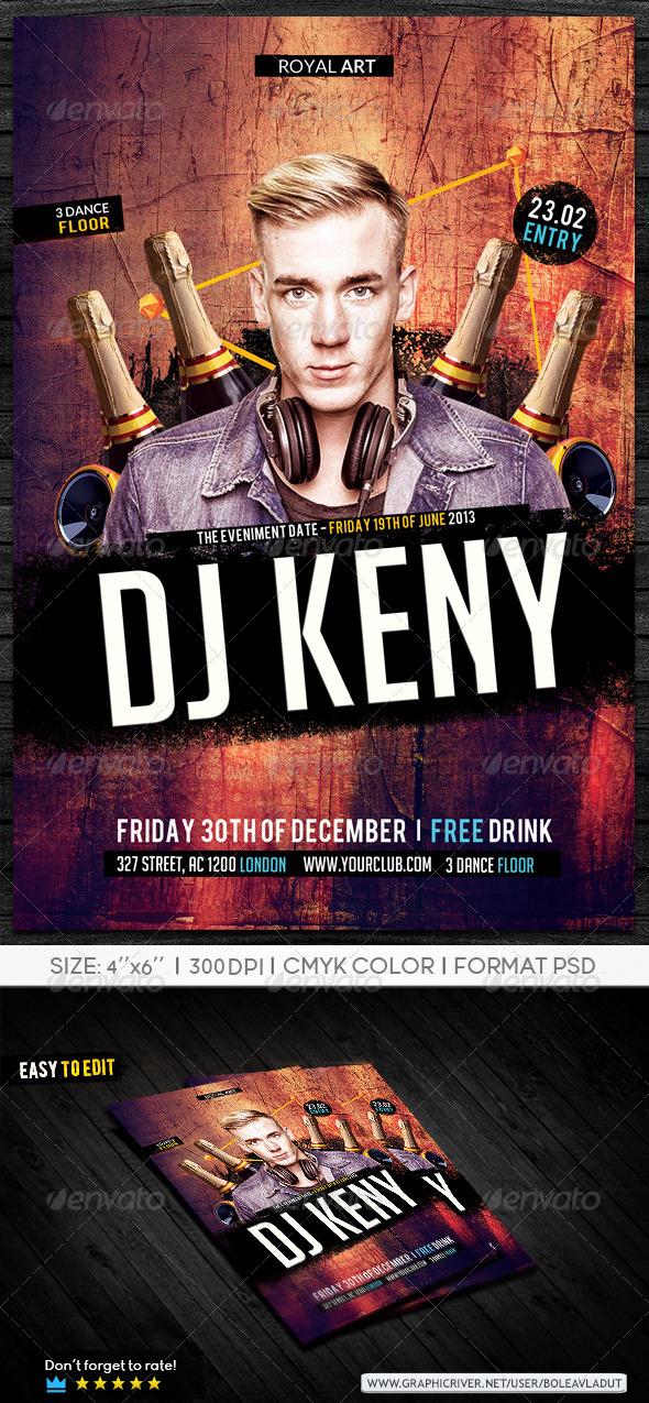 GraphicRiver Flyer Dj Night Party 7295534