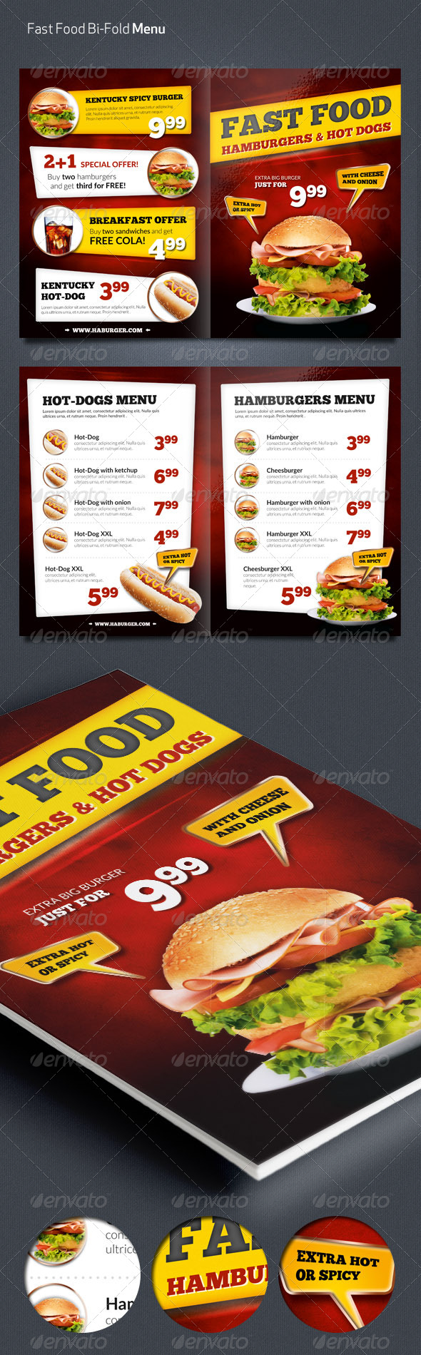 GraphicRiver Fast Food Menu Flyer 7309491