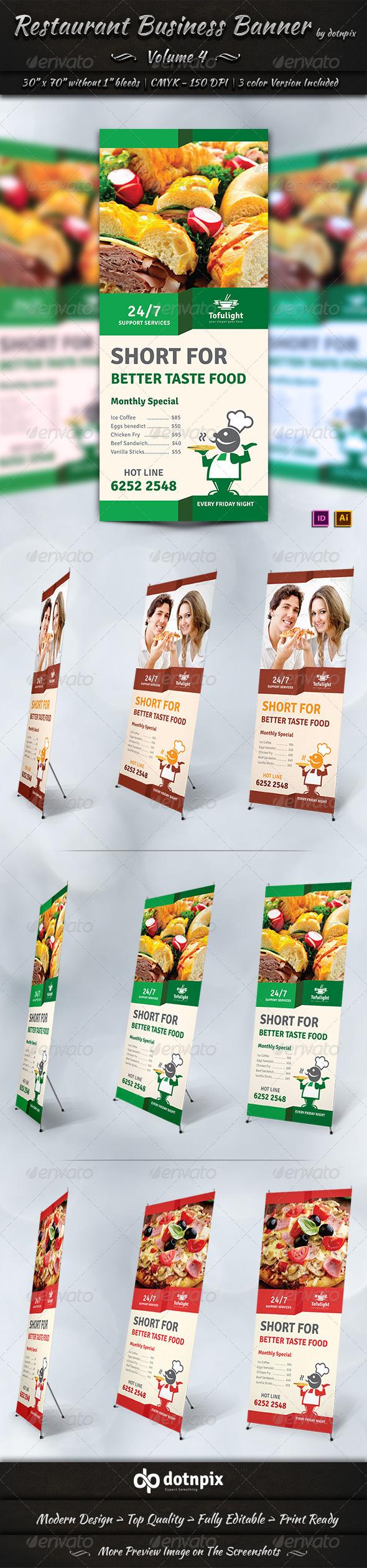 GraphicRiver Restaurant Business Banner Volume 4 7309651