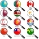 Set  Flags of World Sovereign States Magnifying Glass - GraphicRiver Item for Sale