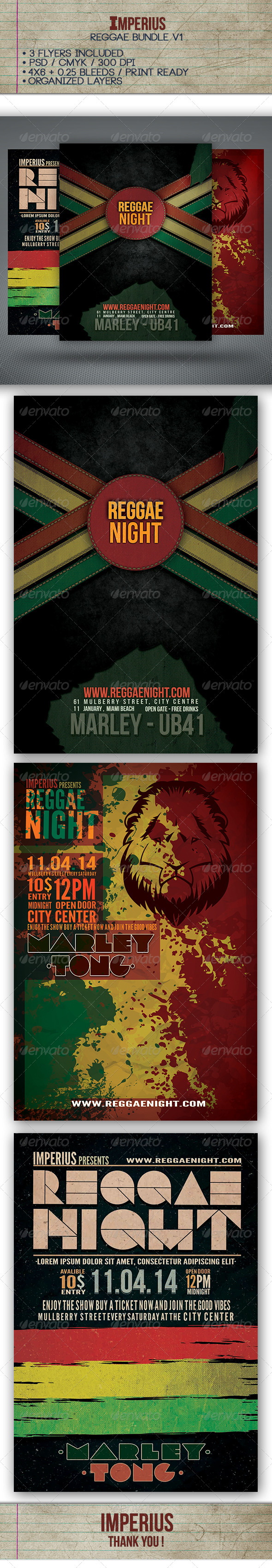 GraphicRiver Reggae Bundle V1 7310639