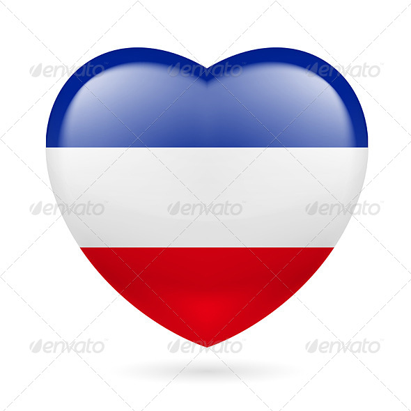 GraphicRiver Heart Icon of Yugoslavia 7310973