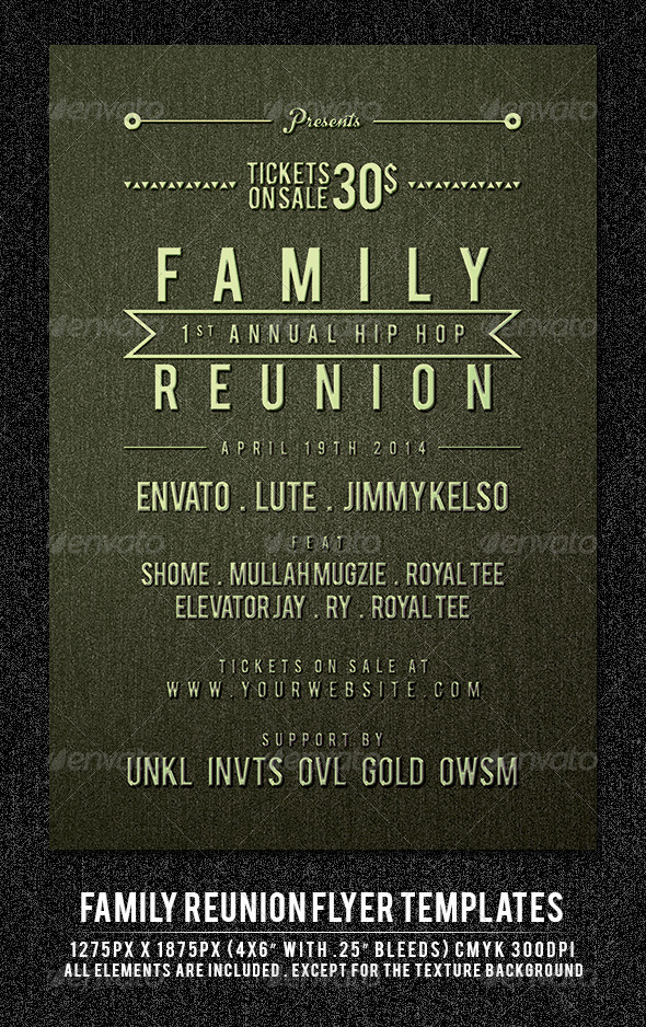 GraphicRiver Family Reunion Flyer Template 7311016