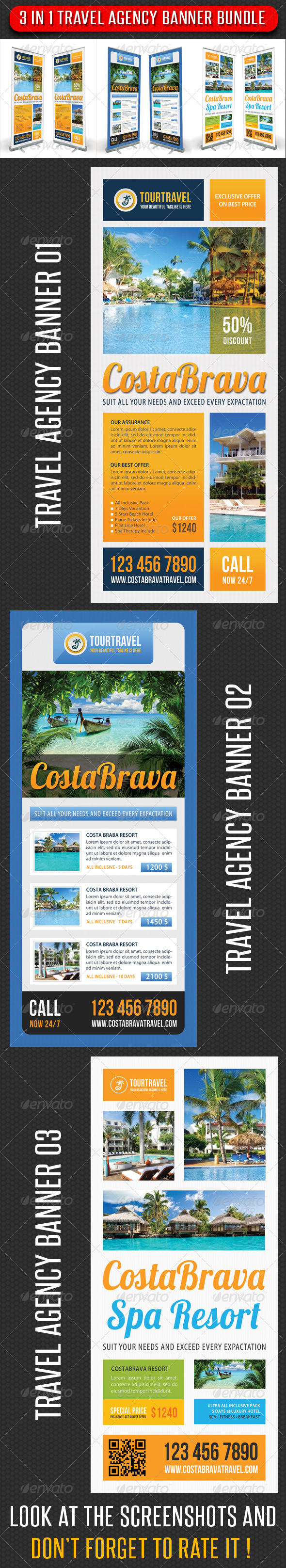 GraphicRiver 3 in 1 Travel Agency Banner Bundle 02 7311040