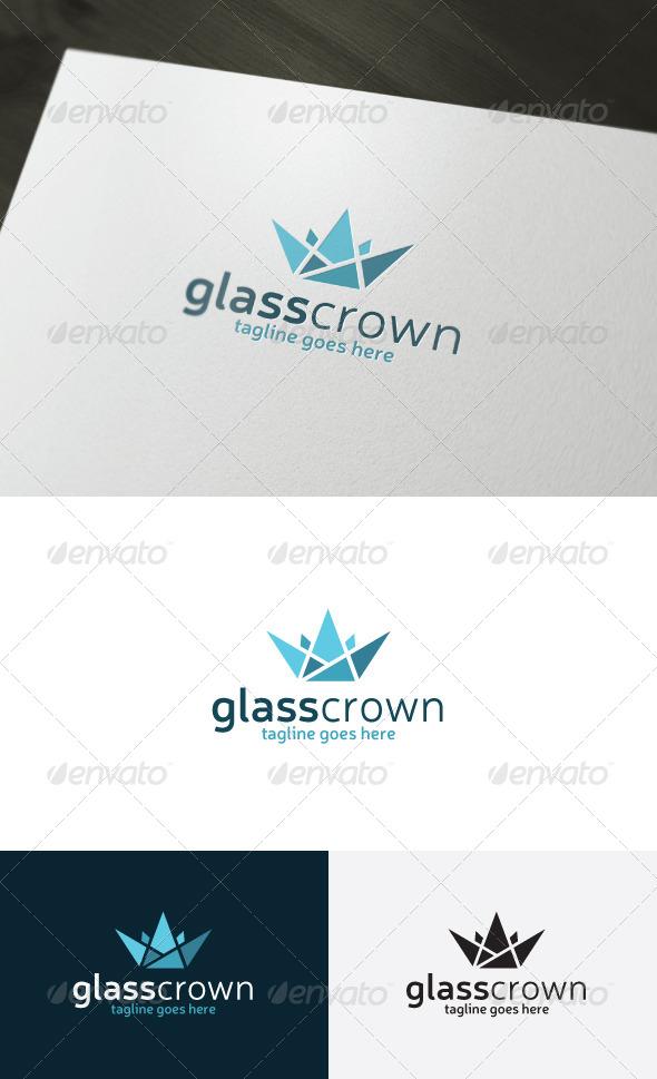 GraphicRiver Glass Crown Logo 7311042