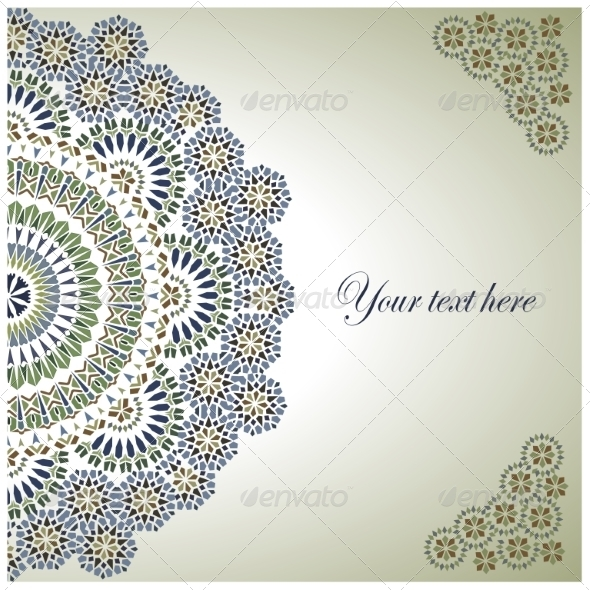 GraphicRiver Vintage Background Traditional Ottoman motifs 7311114