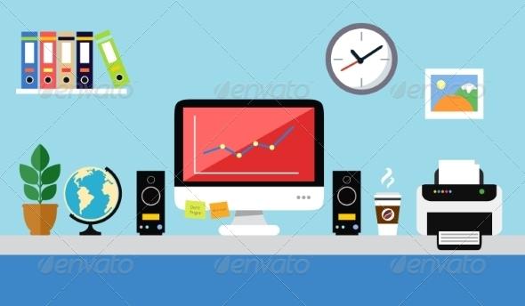 GraphicRiver Office Workstation Design 7311483