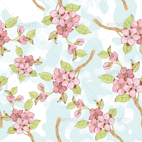 GraphicRiver Sakura Branch Background 7311560