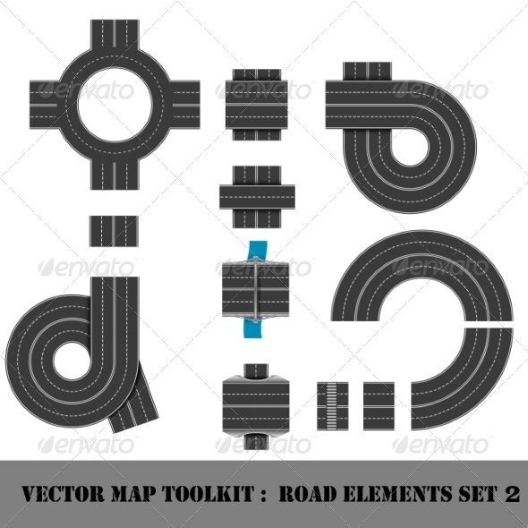 GraphicRiver Map Toolkit Top View Position 7311637