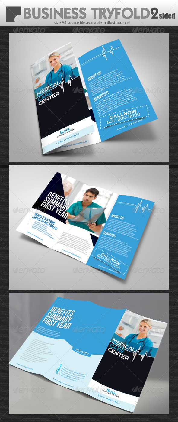 GraphicRiver Medical Care Try Fold Brochure 7311720
