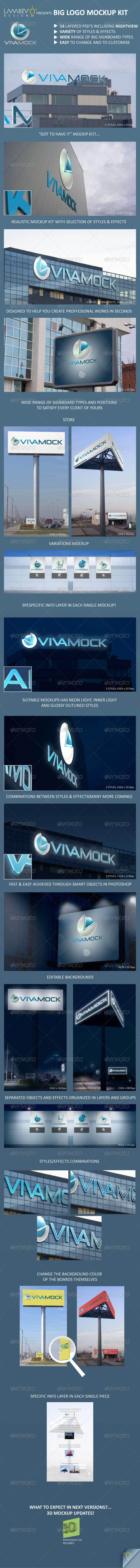 GraphicRiver Big Logo Mockup Kit 7311894