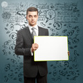 Business Man with Empty Write Board - PhotoDune Item for Sale