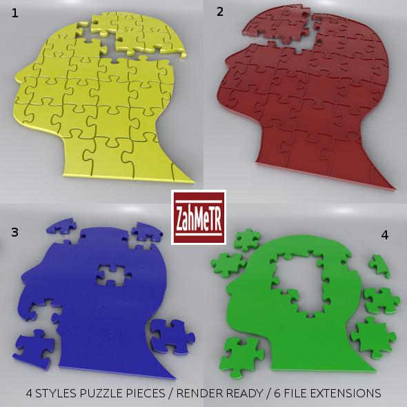 3DOcean Jigsaw Puzzle Head 7312074